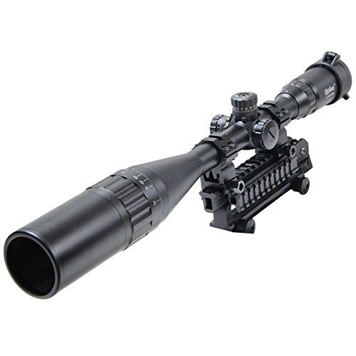 vokul-riflescope-6-24x50mm-optics-hunting-aoe-red-green-blue-mil-dot-reticle-illuminated-crosshair-adjustable-intensified-rifle-scope-with-free-mounts-and-lens-cover-illuminated-level-5-intensity-red